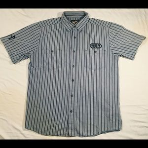 Harley Davidson button up shop shirt size large